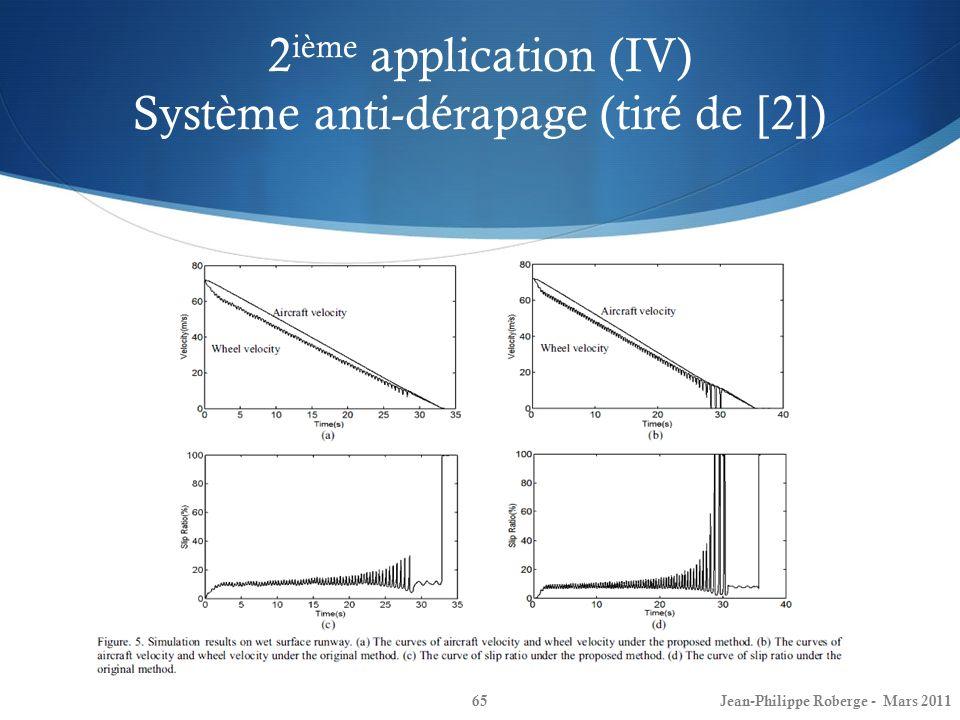 2ième application (IV) Système anti-dérapage (tiré de [2])